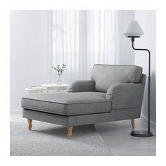 STOCKSUND Chaise - Ljungen gray, light brown - IKEA
