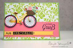 Stampin Up Bike Ride kleiner Gruß Fahrrad Stampin Up, Greeting Cards, Bicycle, Stamping Up