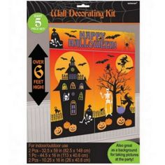 halloween zombies scene setter add ons plastic decorations 165m x 85cm scene plastic and zombies