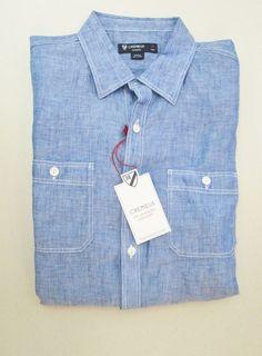 Murano Baird McNutt MENS Red Linen Pocket Short Sleeve Button Down ...