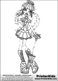easy monster high coloring pages - photo#39