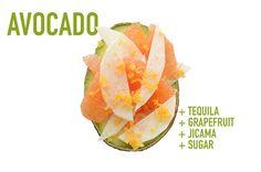 Tequila + toronja + jícama + azúcar: | 17 aderezos de aguacate que cambiarán para siempre tus meriendas