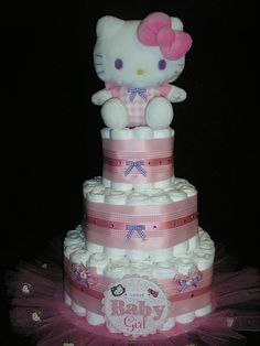My Hello Kitty Diaper Cake