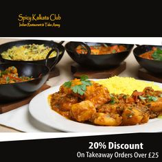 Spicy Kalkata Club offers delicious Indian Food in Longlevens, Gloucester Browse takeaway menu and place your order with ChefOnline. Indian Food Recipes, Ethnic Recipes, Gloucester, A Table, Opportunity, Spicy, Curry, Menu