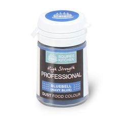 A 4g pot of professional quality bluebell / navy blue coloured food dust. Perfect for dry dusting and painting lots of mediums such as sugarpaste (rolled fondant), pastillage, royal icing, sugar florist paste and sugar flowers / leaves. The dust can also be used to colour white chocolate.