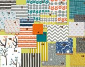 Design your own 3 pcs. SET Custom crib Bedding -True Turquoise and orange. $265.00, via Etsy.