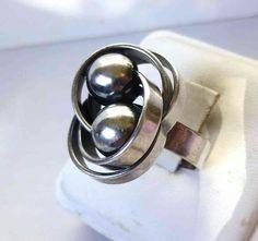 Kupittaan Kulta large Sterling silver ring, adjustable