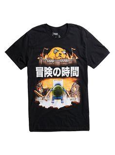 Adventure Time Burning City Jake Attack T-Shirt, BLACK