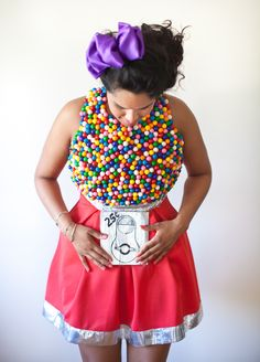 How to make a Gumball Machine costume! Raxclothing.com #costume #halloweencostumes #DIYcostumes