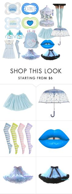 """""""DDLG BLUE"""" by fairysthetic ❤ liked on Polyvore featuring Disney, Vera Bradley and Betsey Johnson"""