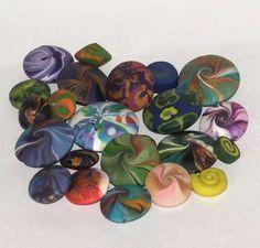 swirly polymer clay beads