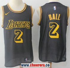 9243a6e5d Men s Nike Los Angeles Lakers  2 Lonzo Ball Black NBA Swingman City Edition  Jersey