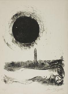 MARC CHAGALL, Black Sun Over Paris