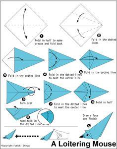 61 best origami animals mouse images on pinterest origami animals rh pinterest com easy origami mouse diagram Origami Cat Diagram PDF