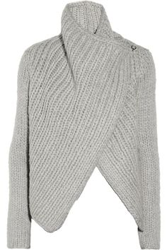 Helmut Lang|Chunky-knit wool-blend cardigan|NET-A-PORTER.COM