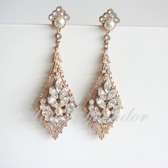 Really beautiful showpiece earrings, completely handmade and designed specifically for bridal wear. Unique! I design and make these myself, and so