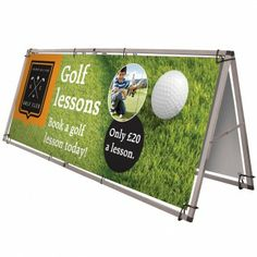 Monsoon- A large format double-sided outdoor 'A' frame banner