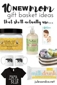 Give A Basket Of Encouragement To New Mama We Cant Do Motherhood