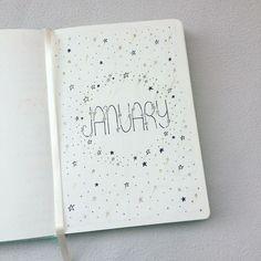 2018 Bullet Journal: January Spread (Stars Theme)
