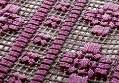 outdoor carpet, hand-embroidered (detail) • paola lenti