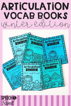 Winter Articulation Vocabulary Books! These are a great way to integrate reading and vocabulary into your speech therapy sessions! They're no prep and can also be used with mixed groups! Language students can work on categories, describing, or comparing/contrasting! They're also great for easy readers in the kindergarten or first grade classrooms!