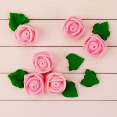 Pink Icing Roses Cake or Cupcake Toppers/Decorations - from Layer Cake Shop Layer Cake Shop (($))