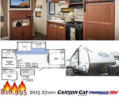 Canyon Cat by Palomino RV is a very popular lite travel trailer towable by most trucks and suv's. It has a single slide out, bunk area in back and super efficient layout.. which is why it's one of our featured campers at our RV Super Sale now through July 25th, 2015 at Primeaux RV