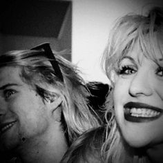 "Kurt Cobain + Courtney Love | ""He was so gorgeous... Kurt. I don't know how I got lucky that way. """
