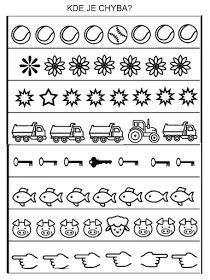 na premysleni, kde je chyba Letter Worksheets For Preschool, Free Preschool, Preschool Printables, Kindergarten Worksheets, Dyslexia Activities, Kids Learning Activities, Coding For Kids, Math For Kids, Visually Impaired Activities