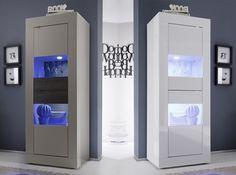 Basic Modern 2-Door Glass Vitrine by LC Mobili - $515.00