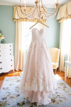White Lace + Blush Allure Wedding Gown // Rustic Chic Legare Waring House Wedding // Dana Cubbage Weddings // Charleston SC + Destination Wedding Photographer