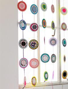 #DIY #paper curtain - zelfmaakidee: #papiergordijn - kijk op: www.101woonideeen.nl