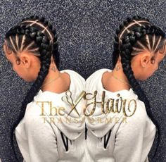 35 Cornrow Hairstyles The number styles you can create with cornrows are limitless! Read on our cornrows guide with conrow hairstyles inspiration and different looks you can create. Black Girl Braids, Girls Braids, Two Braids Hairstyle Black Women, Cute Cornrows, Long Cornrows, Curly Hair Styles, Natural Hair Styles, Goddess Braids, Beautiful Braids
