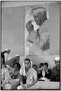 © Henri Cartier-Bresson/Magnum Photos.   Jaipur, Rajasthan - 1966.  The Congress' session.  Indira GANDHI, president of the Congress.
