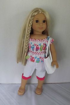 New from newyorkdolldesigns on eBay! 3 pc. summer fun set for American Girl Isabelle, McKenna, Julie,