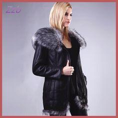 Hot-selling winter women's fashion thickening Faux fur fox fur Cuero abrigo de piel Winter leather fur Jacket with hood Women