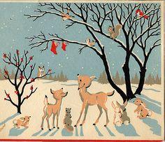 Love this vintage christmas card