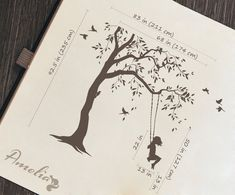 Tree decal with swings and birds Large nursery tree vinyl wall art Wall Mural sticker Kids room decor Nature Tree wall tattoo Kids Stickers, Vinyl Wall Stickers, Vinyl Wall Decals, Art Mur, How To Hang Wallpaper, Tree Decals, Girl Silhouette, Wall Tattoo, Nature Tree