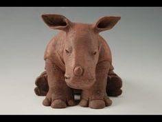 play dough : how to make animals: part 4 Rhinoceros