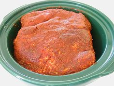 Seriously the BEST RUB for making pulled pork in the crock pot.~ I let the spice rubbed pork sit in the fridge over night. I didn't put the pork back in the crockpot with the bbq sauce, instead, I put the pulled pork on toasted buns and stuck under broiler for about 45 seconds, took out of oven and added BBQ sauce and Slaw on top. Yummy! I will need to halve the rub recipe next time.