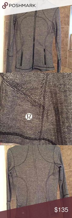 Lululemon herringbone jacket In perfect condition! Size 6 lululemon athletica Jackets & Coats