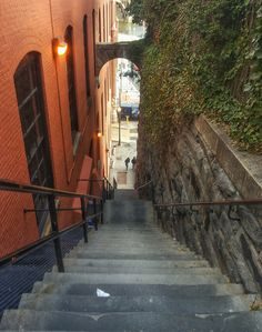 The Exorcist staircase in Washington DC. Pretty creepy!