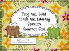 Mrs. Wills Kindergarten: Frog and Toad Common Core Literacy Stations