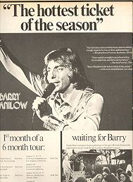 Advertisement Pertaining To One Of Barry's Concert Tours