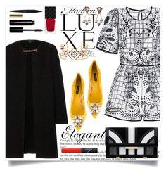 """Sem título #437"" by caroolnunees ❤ liked on Polyvore featuring Burberry, Dolce&Gabbana, Aperlaï, Bobbi Brown Cosmetics, Gucci, NARS Cosmetics and Stella & Dot"