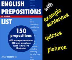 English Preposition List - PDF ebook for immediate download