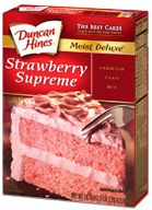 Duncan Hines makes the best cake mixes ever! Strawberry Refrigerator Cake, Old Fashioned Pound Cake, Best Cake Mix, Fig Cake, Duncan Hines, Strawberry Cupcakes, Energy Bars, Sweet Desserts, Treats