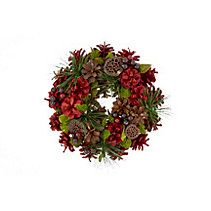 Wreath is perfect for your front door Features assorted greenery and berries Wreaths And Garlands, Canadian Tire, Greenery, Small Wreath, Christmas Wreaths, Berries, Seasons, Holiday Decor, Berry Fruits