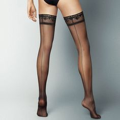 Sensuous Lace Top Fashionable Quality Patterned Hold-ups Gabriella LANA 20 Den