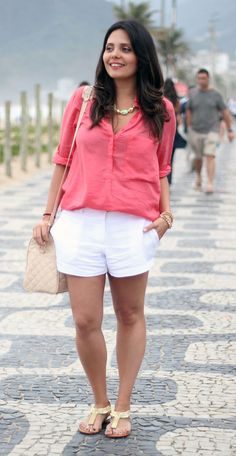 camisa-coral-short-branco-claudinha-stoco-4